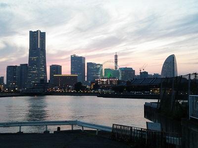 横浜大桟橋からの眺め